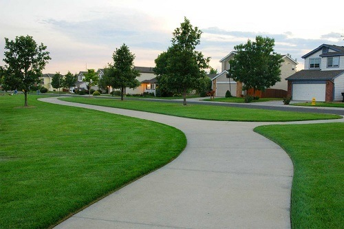 Edged Lawn in front of a Home